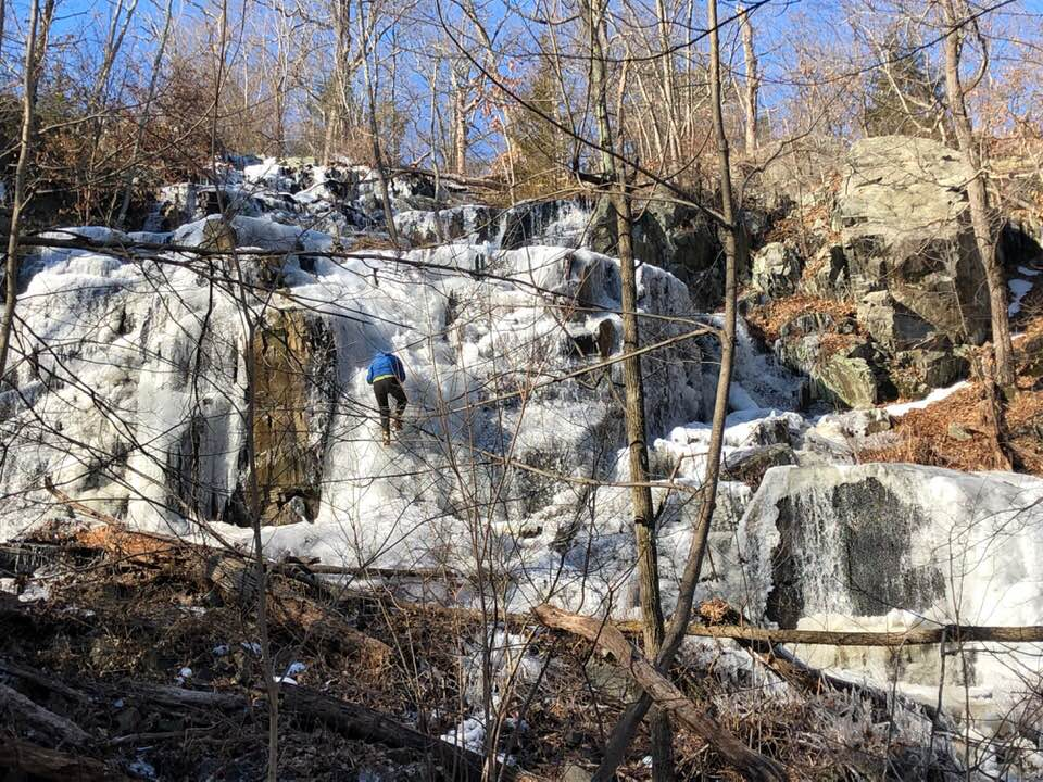 Frozen Waterfall - Middlesex Fells, Jan 26, 2019 - photo by Carol Fyfe
